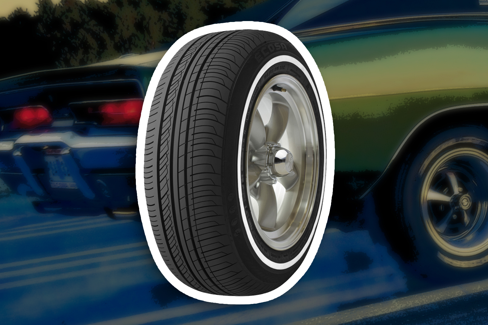 The Reason Behind White Tyres Of The Past